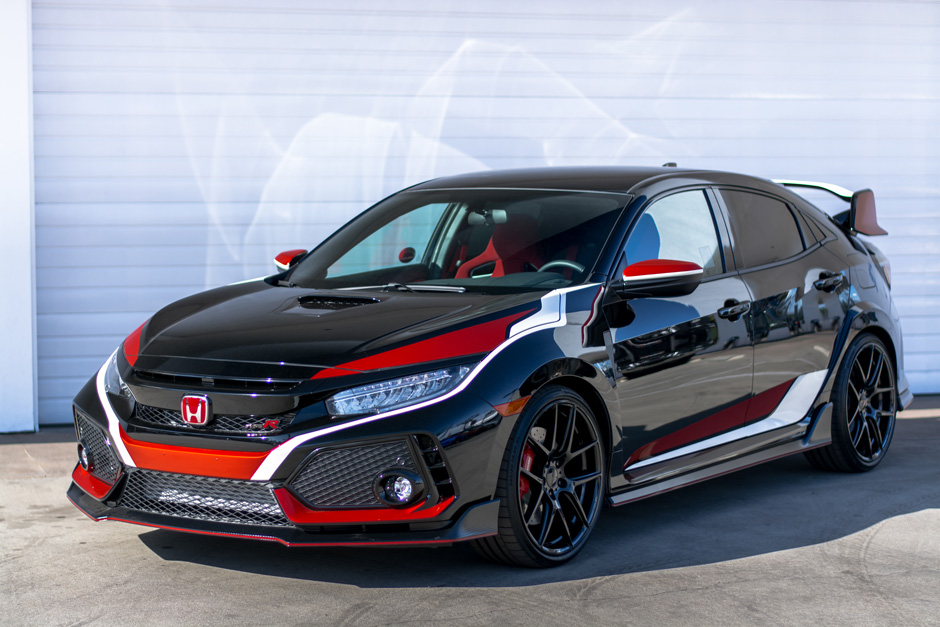 New Honda Civic Type R 2016 >> 2018 Honda Civic Type R w/ AFF02 20 Custom- Gloss Black ACE