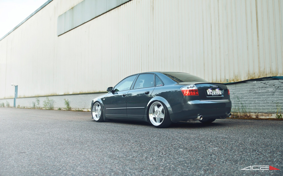 "ACE 19"" SL-5 C917 Silver Diamond Lip Audi A4 B6 Sedan Aftermarket Wheels"