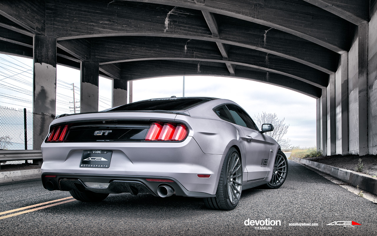 "20"" wheel Titanium Devotion D718 Ford Mustang avail. 19x8.5/19x10"