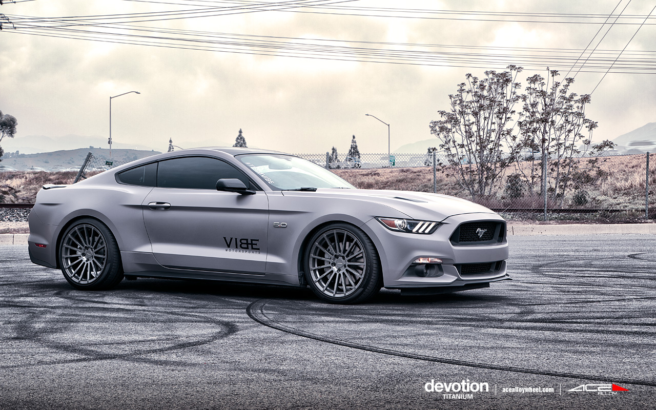 "20"" wheel Titanium Devotion D718 Ford Mustang avail. 20x8.5/20x10/20x10.5"