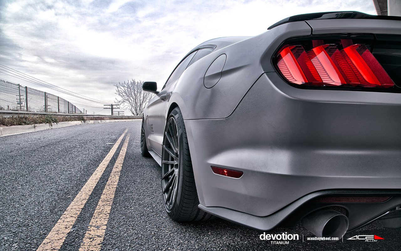 "20"" wheel Titanium Devotion D718 Ford Mustang"