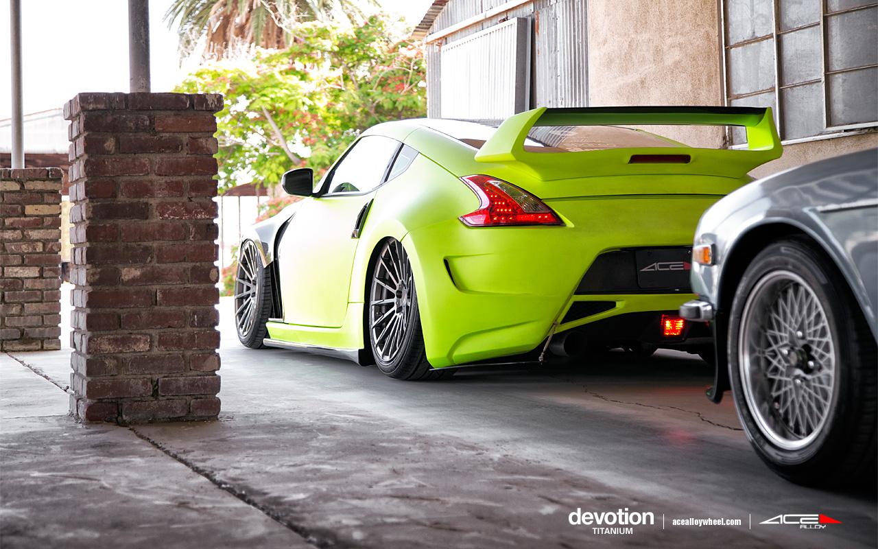 """20"""" wheel Titanium Devotion D718 Nissan 370Z avail.19x8.5/19x10"""
