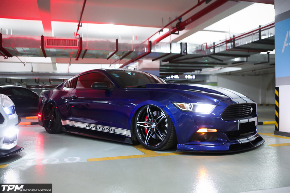 Bagged-Ford-Mustang-Gt-Ace-Alloy-Wheel-Flowform-Aff01-custom-wheels
