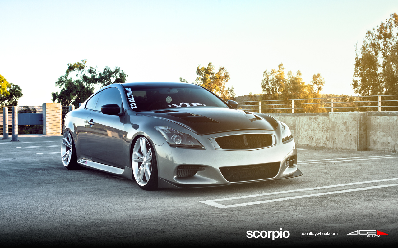 "20"" wheel metallic silver scorpio c902 infiniti g37"
