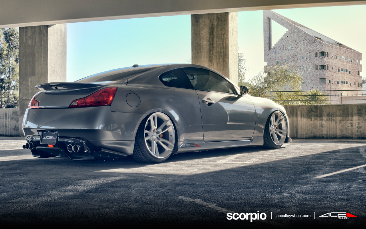 "20"" wheel metallic silver scorpio c902 infiniti g37 avail.Metallic silver Machined Face"