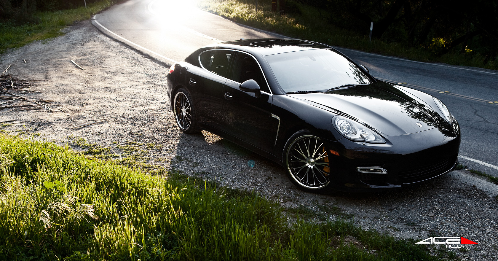 Porsche Panamera w/ 22 22 Black with Machined Face ACE on williams wheels, silver wheels, 20 chrome wheels, brown wheels, 17 chrome wheels, crane wheels, 22 chrome wheels, chrome steel wheels, chrome spoke wheels, 18 chrome wheels,