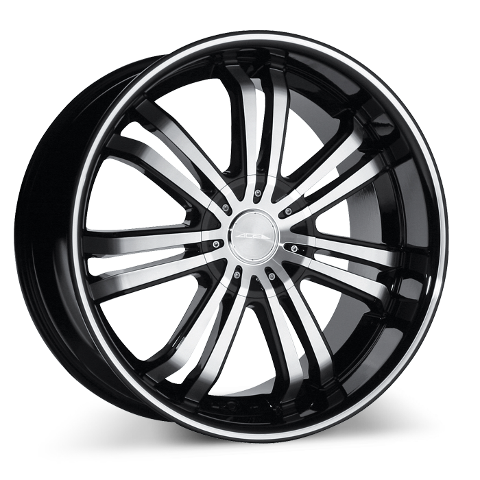 Devine C892 Black with Black Lip/Machined Stripe wheels & rims