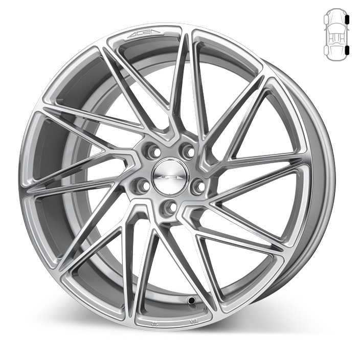 Driven D716 Liquid Silver with Machined Face wheels & rims