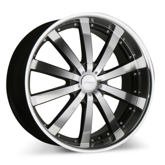 EXECUTIVE C853 Black with Machined Face/Lip wheels & rims
